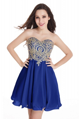Sweetheart Cheap Mini Short Appliques Homecoming Dresses_7