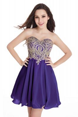 Sweetheart Cheap Mini Short Appliques Homecoming Dresses_5