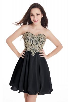Sweetheart Cheap Mini Short Appliques Homecoming Dresses_9