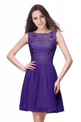 New A-line Chiffon Lace Zipper Short Homecoming Dress_3