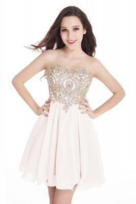 Sweetheart Cheap Mini Short Appliques Homecoming Dresses_4
