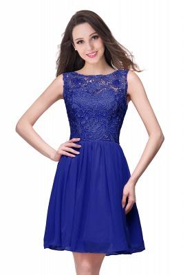 New A-line Chiffon Lace Zipper Short Homecoming Dress_4