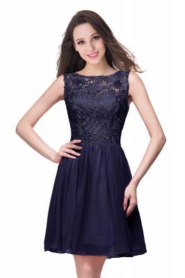 New A-line Chiffon Lace Zipper Short Homecoming Dress_6