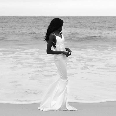 Elegant Spaghetti-Straps Mermaid Wedding Dress Long Bridal Gowns_2