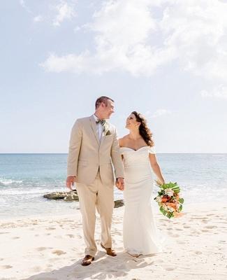 Sheath Sweetheart Wedding Dress Online | Elegant Off-the-Shoulder Chiffon Bridal Gowns_3