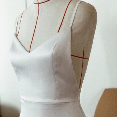 Elegant Spaghetti-Straps Mermaid Wedding Dress Long Bridal Gowns_4