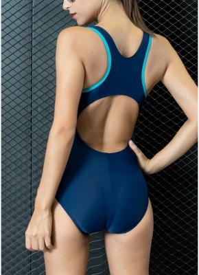 Women One-piece Bathing Suit UK Contrast Color Padded Monokini Swimsuits UK Bathing Suit UK_6