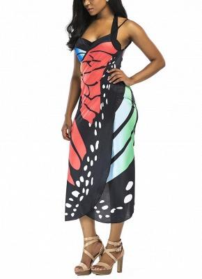 Modern Women Summer Print Long Kimono Cardigan Elegant Loose Beach Cover Up Outwear_4