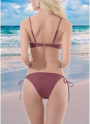 Hot Women Lace Up Front Tank Top Bikini Set UK Solid Bathing Suit UK Push Up Bra Tie Sides Bathing Suit UK Swimsuits UK_3