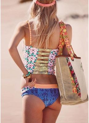 Hot Womens Bikini Set Floral Geometric Print Underwire Push Up Swimsuit_3