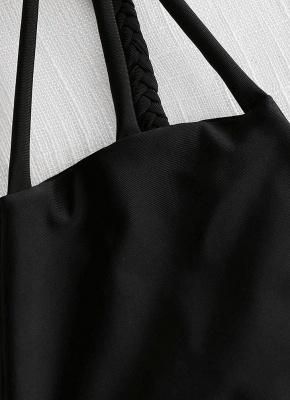 Womens Print Bikini Set Caged Strappy Top High Leg Swimsuit Beach Bathing Suit_5