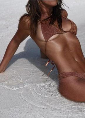 Hot Women Glitter Halter Bikini Set UK Bling Sequined Biquini Swimsuits UK Bathing Suit UK_1
