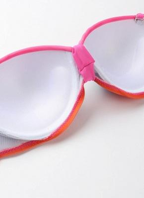 Hot Gradient Rainbow Print Underwire 3/4 Cup Women's Bikini UK_7