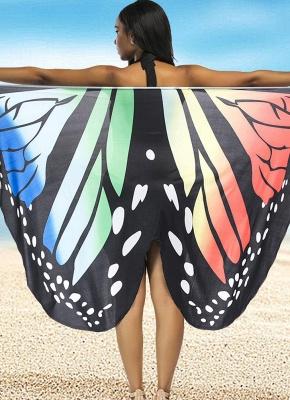 Modern Women Summer Print Long Kimono Cardigan Elegant Loose Beach Cover Up Outwear_1