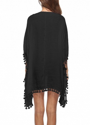 Crochet Lace Hollow Out Bohemian Loose Beach Wear Cover-up_9