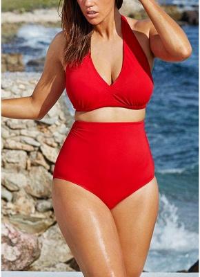 Big Halter High Waist Push Up Bikini UK_1