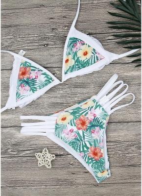 Floral Halter Bodycon Bikini Set UK_6