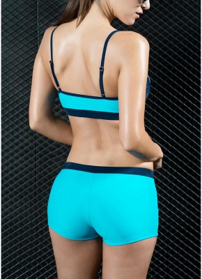 Sports Splicing Professional Racing Tank top Swimsuit_7