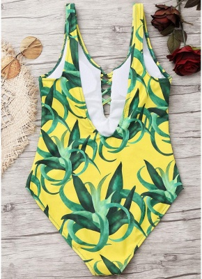 Womens Push Up Swimsuit Sexy Open Back Bathing Suit One Piece Bodycon Beach Swimsuit_6