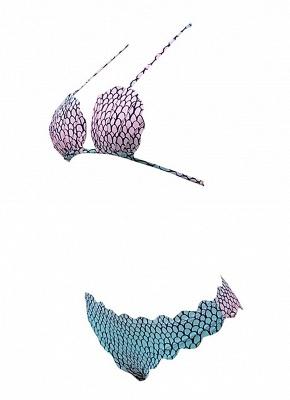 Modern Women Swimwear Bikini Set Scalloped Trim Bandage Swimsuit Beach Wear Two Piece_9