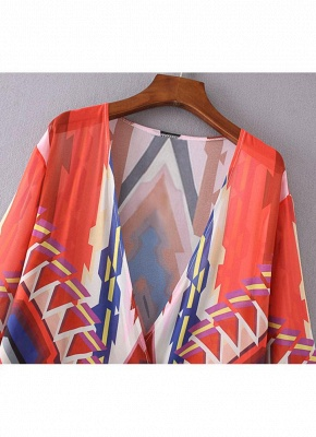 Women Casual Hippie Kimono Chiffon Blouse_5