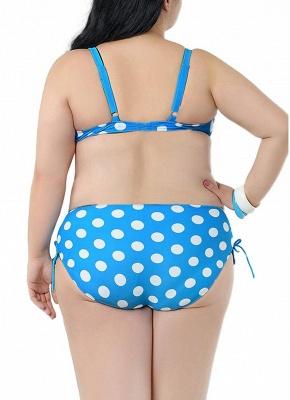 Plus Size Polka Dot Knot Bikini Set_8