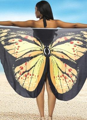 Modern Women Summer Print Long Kimono Cardigan Elegant Loose Beach Cover Up Outwear_2