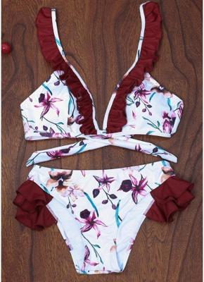 Women Floral Bikini Set UK Push Up Padded Bodycon Bathing Suit UK Swimsuits UK Bathing Suit UK_1