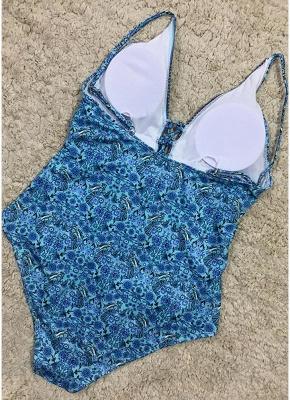 Women One Piece Bathing Suit UK Swimsuits UK Deep V-Neck Lace Up Bathing Suit UK Sexy Backless Printed Beachwear Monokini_5