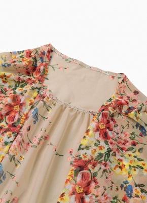 Retro Floral Lace Hem Bohemian Chiffon Kimono_8