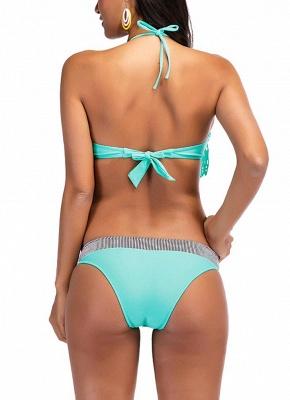 Women Bikini Set UK Fringing Front Tied Sexy Backless Padded Tank Tops Bathing Suit UK Swimsuits UK_3