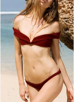 Womens Tank top Bikini Set Solid Hot Brazilian Swimsuit?_1