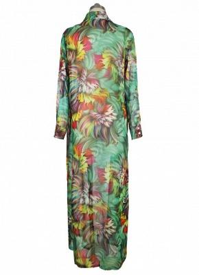 Hot Women Chiffon Bikini UK Cover Up Floral Bohemia Cardigan Kimono Loose Outerwear Beachwear Green/Blue_6
