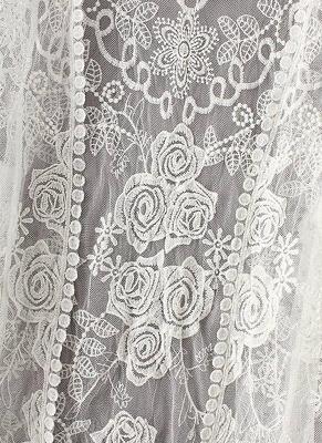 Women Retro Lace Crochet Beach Cardigan_7