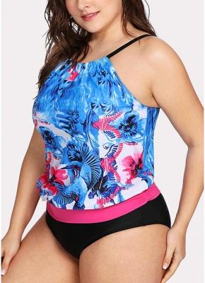 Modern Women Padded Plus Size Swimsuit Push Up Printed Swimwear Bathing Suit_5