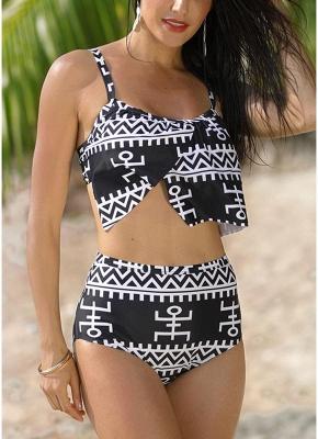 Women Print Tank Top Bathing Suit UK Padding Wireless Bodycon Beach Bathing Swimsuits UK_1