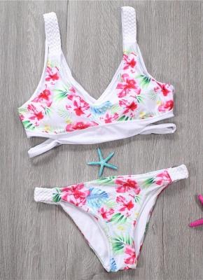 Women Floral Swimsuits UK Bikini Set UK Hollow Out Low Waist Bathing Suit UK Tank Top Bathing Suit UK Beach Wear White_4