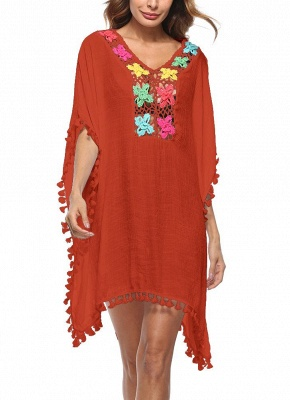 Crochet Lace Hollow Out Bohemian Loose Beach Wear Cover-up_3