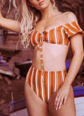 Hot Women Bikini Set UK Bathing Suit UK Push Up Swimsuits UK Solid&Leopard&Stripe Bodycon Beach Wear Bathing Suit UK_1