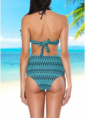 Women Swimsuits UK Bikini Set UK Halter Geometric Print Bathing Suit UK Beach Wear Tank Top_3