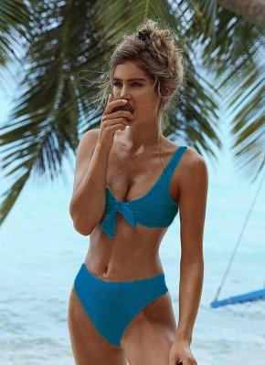 Hot Solid Color Bodycon Skimpy Women's Bikini Set UK_2