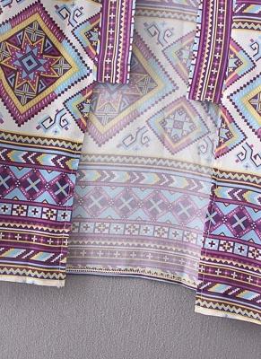 Bohemian Fashion Chiffon Geometric Print Loose Women's Kimono_9