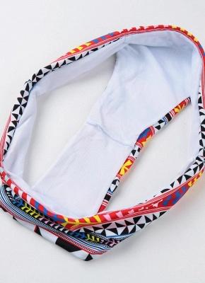 Push Up Padded Geometry Print Cross Halter Bikini Set UK_10
