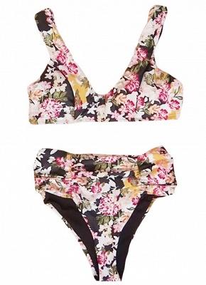 Women Floral Bikini Set UK V-Neck Sleeveless Padding Print Bathing Beach Swimsuits UK Bathing Suit UK_3