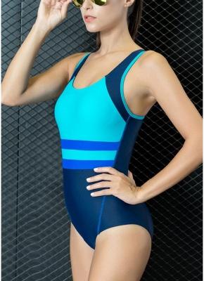 Women One-piece Bathing Suit UK Contrast Color Padded Monokini Swimsuits UK Bathing Suit UK_5