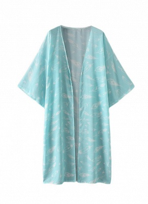 Women Kimono Beach Cover Up Outerwear_4