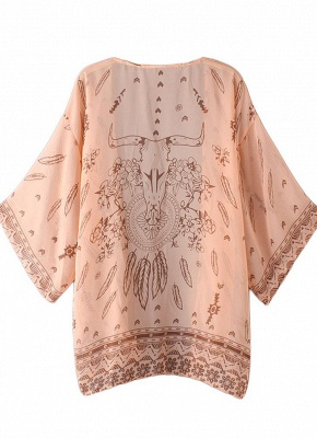 Women Summer Shirt Kimono Beach Cover Up Outerwear_6