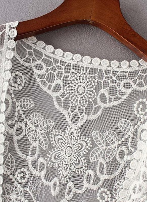 Women Retro Lace Crochet Beach Cardigan_6