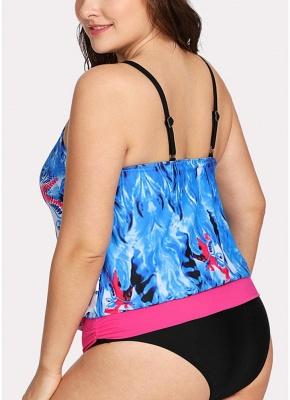 Modern Women Padded Plus Size Swimsuit Push Up Printed Swimwear Bathing Suit_3