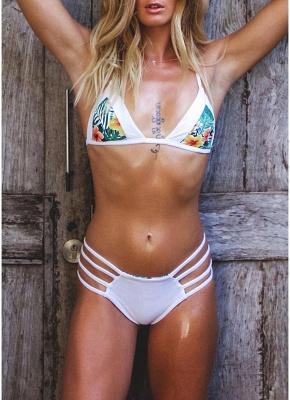Floral Halter Bodycon Bikini Set UK_4